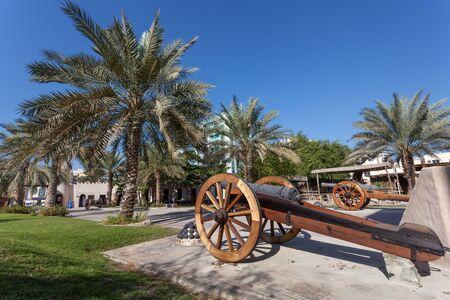 ajman: Historic cannon at the museum of Ajman, United Arab Emirates