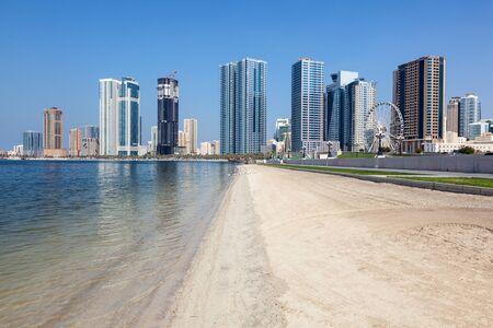 united arab emirates: Beach in Sharjah City, United Arab Emirates