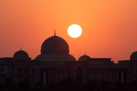 united arab emirates: Sunset in Sharjah, United Arab Emirates