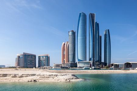 Etihad Towers in Abu Dhabi City, United Arab Emirates