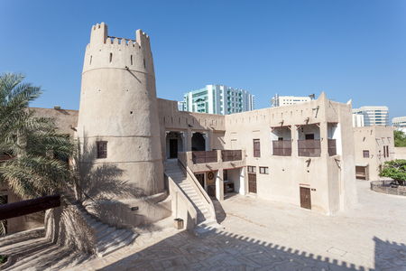 Ancient fort at the museum of Ajman. United Arab Emirates