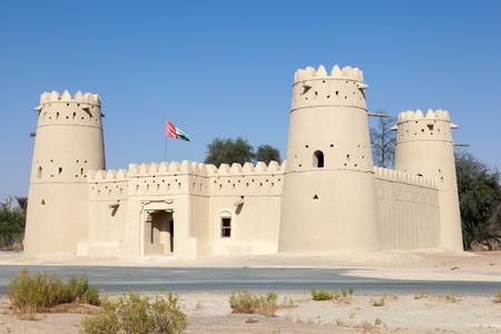 casbah: Historic arabian fort in the Liwa area, Emirate of Abu Dhabi, UAE Editorial