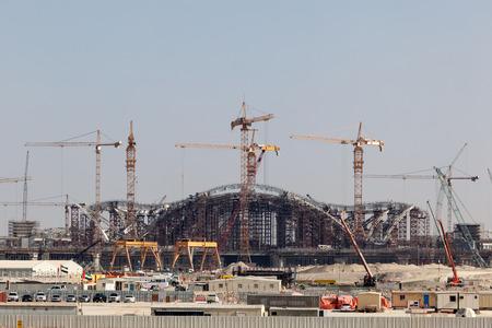 gcc: ABU DHABI - DEC 23: Construction Site of the new International Airport in Abu Dhabi. December 23, 2014 in Abu Dhabi, United Arab Emirates