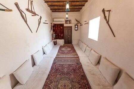 AJMAN, UAE - DEC 17: Traditional bedouin room in the museum of Ajman. December 17, 2014 in Ajaman, United Arab Emirates