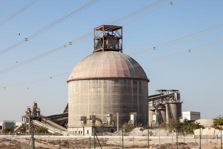 ali: Cement factory building in Jebel Ali, Dubai, United Arab Emirates