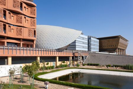institute of technology: ABU DHABI - DEC 23: View of the Masdar Institute of Science and Technology, Abu Dhabi. December 23, 2014 in Abu Dhabi, United Arab Emirates