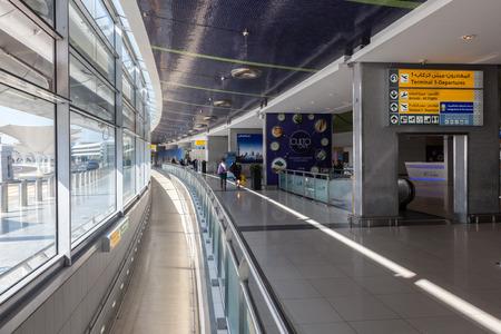 gcc: ABU DHABI - DEC 19: Interior of the Abu Dhabi International Airport. December 19, 2014 in Abu Dhabi, United Arab Emirates