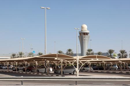 gcc: ABU DHABI - DEC 19: Exterior of the Abu Dhabi International Airport. December 19, 2014 in Abu Dhabi, United Arab Emirates