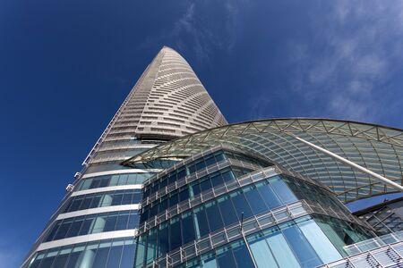 postmodern: ABU DHABI - DEC 21: The Landmark - a postmodern supertall skyscraper in Abu Dhabi. December 21, 2014 in Abu Dhabi, United Arab Emirates