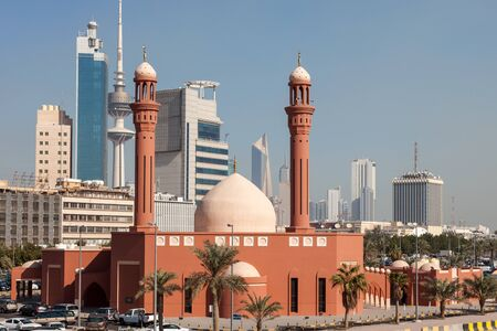 quran: Bader Al Mailam Mosque in Kuwait City, Middle East
