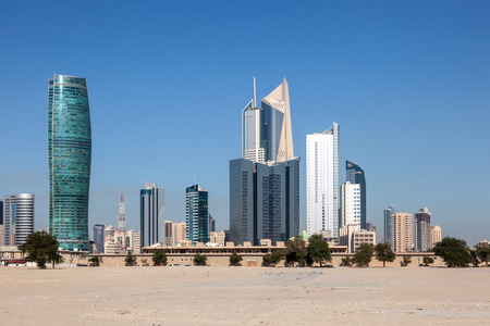 Skyscrapers downtown in Kuwait City, Middle East Stock Photo