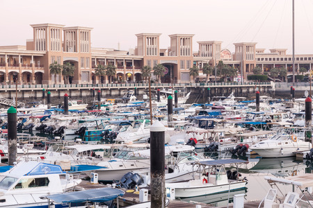 souq: KUWAIT - DEC 7: Souq Sharq shopping mall and Marina in Kuwait. December 7, 2014 in Kuwait City, Middle East