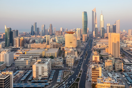 high angles: Downtown of Kuwait City, Middle East