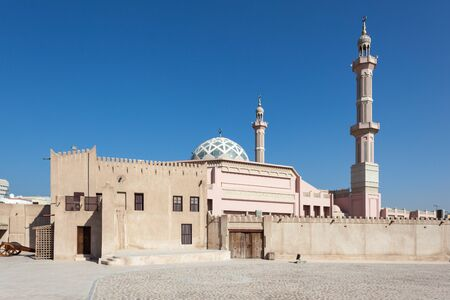 ajman: Mosque in Ajman, United Arab Emirates Stock Photo