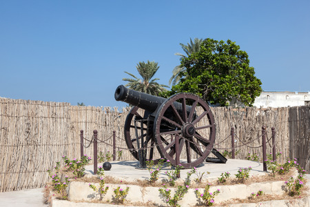 al: Historic Cannon in Umm Al Quwain, United Arab Emirates