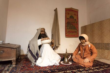 AJMAN, UAE - DEC 17: Scenery of a bedouin life in the museum of Ajman. December 17, 2014 in Ajman, United Arab Emirates