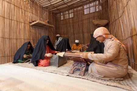 AJMAN, UAE - DEC 17: Scenery of a bedouin school in the museum of Ajman. December 17, 2014 in Ajman, United Arab Emirates