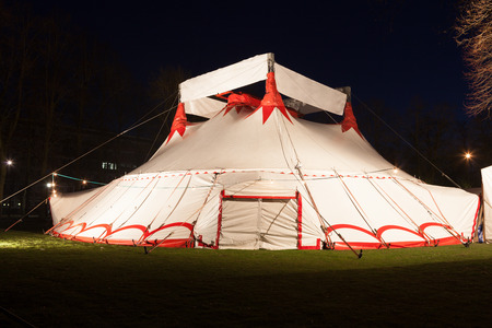 Illuminated big top circus tent at night : circus tent at night - memphite.com