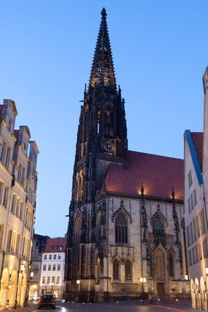 rhine westphalia: Late Gothic St. Lamberti Church in Muenster, North Rhine Westphalia, Germany Stock Photo