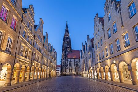 rhine westphalia: MUNSTER, GERMANY- APR 4: Historic buildings in the old town of Muenster. April 4, 2015 in Muenster, North Rhine Westphalia, Germany Editorial