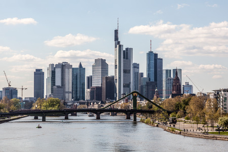 Downtown skyline of the Frankfurt Main City, Germany