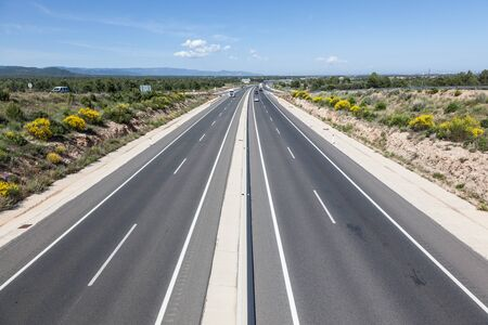 autos: Toll motorway Autopista AP-7 (also called Autopista del Mediterraneo) in Spain