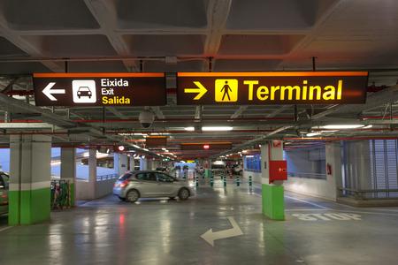 car park interior: Parking garage at an airport in Spain