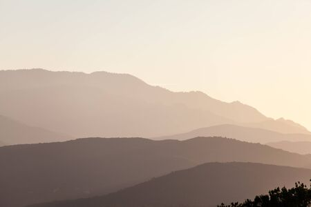 pyrenees: Mountains silhouette in the french Pyrenees
