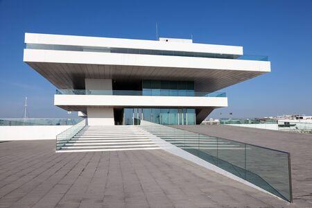 america's cup america: VALENCIA, SPAIN - MAY 24: Americas Cup or (Veles e Vents) building in the port of Valencia. May 24, 2015 in Valencia, Spain