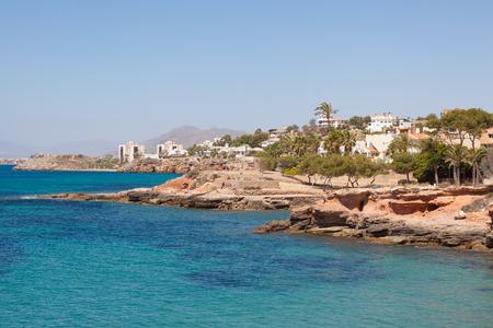 beaches of spain: Mediterranean coast in Isla Plana, province of Murcia, Spain