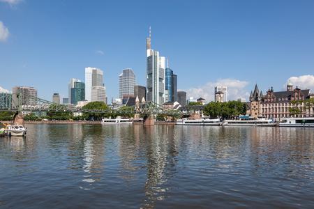 hesse: Skyline of Frankfurt Main, Hesse, Germany Stock Photo