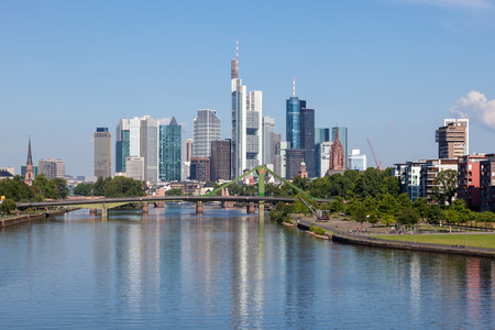 Skyline of Frankfurt Main, Hesse, Germany Stock Photo