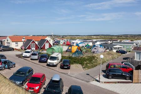 autos: ZANDVOORT - AUG 7: View over the camping site Camping de Branding in Holland. August 7, 2015 in Zandvoort, Netherlands
