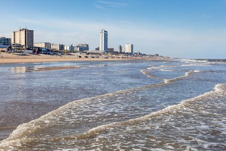 Strand in de stad Zandvoort, Noord-Holland, Nederland
