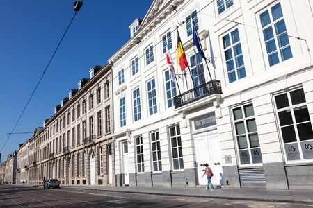 wallonie: BRUSSELS, BELGIUM - AUG 22: Parliament building of the Wallonie-Bruxelles in the city of Brussells. August 22, 2015 in Brussels, Belgium