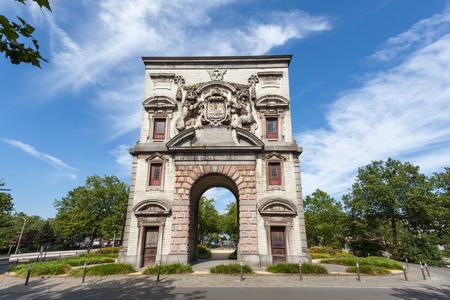 antwerp: Waterpoort Triumphal Arch in the city of Antwerp, Belgium