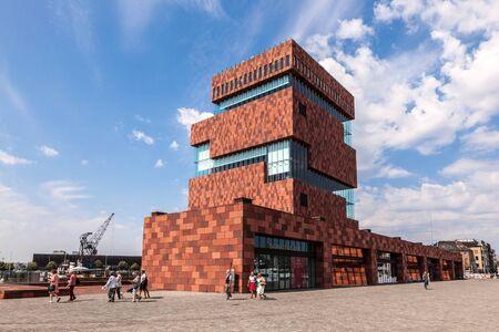ANTWERPEN, BELGIË - 23 augustus: The Museum aan de Stroom (MAS, Nederlands voor Museum aan de rivier) in Antwerpen. 23 augustus 2015 in Antwerpen, België