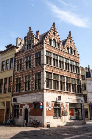 antwerp: ANTWERP, BELGIUM - AUG 23: Historic building at the Grote Markt (Great Market Square) in Antwerp. August 23, 2015 in Antwerp, Belgium Editorial