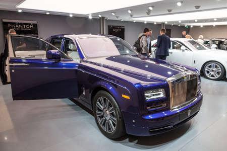phantom: FRANKFURT, GERMANY - SEP 22: Presentation of the new Rolls Royce Phantom luxruy sedan at the IAA International Motor Show 2015. September 22, 2015 in Frankfurt Main, Germany Editorial