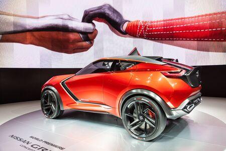nissan: FRANKFURT, GERMANY - SEP 22: Nissan Gripz Concept Crossover at the IAA International Motor Show 2015. September 22, 2015 in Frankfurt Main, Germany
