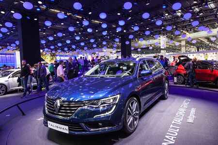 talisman: FRANKFURT, GERMANY - SEP 22: The new Renault Talisman Grandtour at the IAA International Motor Show 2015. September 22, 2015 in Frankfurt Main, Germany