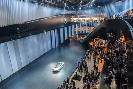 iaa: FRANKFURT, GERMANY - SEP 22: Mercedes Benz Concept IAA (Intelligent Aerodynamic Automobile) at the IAA International Motor Show 2015. September 22, 2015 in Frankfurt Main, Germany Editorial