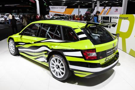 FRANKFURT, GERMANY - SEP 22: Scoda Fabia RS Combi Racing Car at the IAA International Motor Show 2015. September 22, 2015 in Frankfurt Main, Germany Editorial