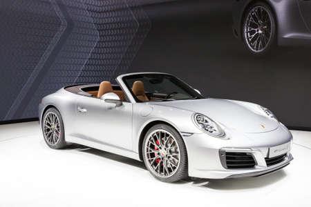 carrera: FRANKFURT, GERMANY - SEP 22: Porsche 911 Carrera S Sports Car at the IAA International Motor Show 2015. September 22, 2015 in Frankfurt Main, Germany