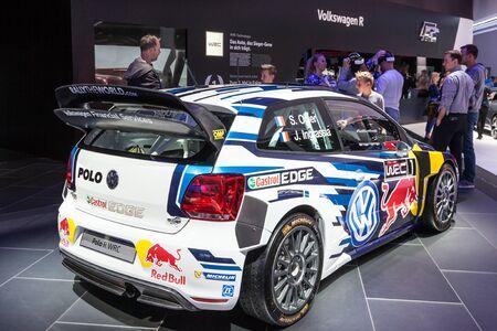 FRANKFURT, GERMANY - SEP 22: Volkswagen Polo WRC at the IAA International Motor Show 2015. September 22, 2015 in Frankfurt Main, Germany