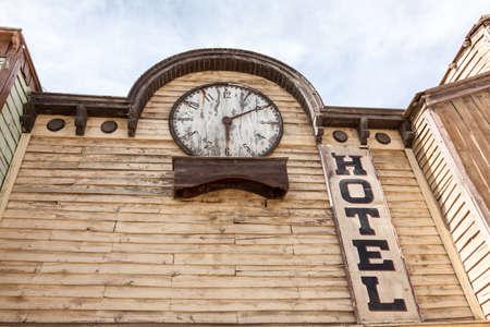 accomodation: Abandoned old wooden hotel building