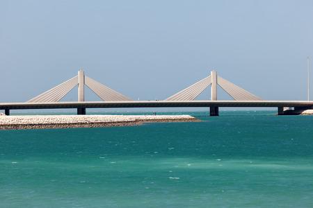 Sheikh Isa Bin Salman Causeway Bridge in Manama, Kingdom of Bahrain, Middle East