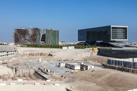 bay city: Construction site in the Marina Bay, City of Manama, Bahrain, Middle East