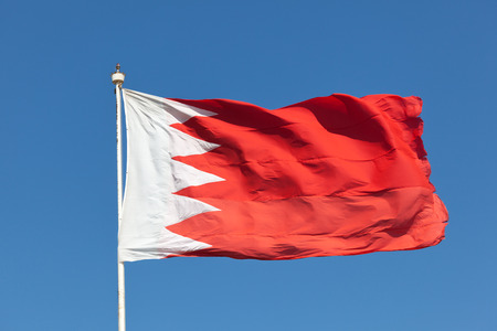 gcc: National flag of the Kingdom of Bahrain, Middle East