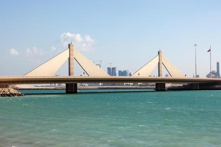 gcc: Sheikh Isa Bin Salman Causeway Bridge in Manama, Kingdom of Bahrain, Middle East